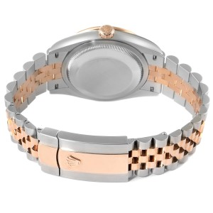 Rolex Datejust 36 Steel Rose Gold Diamond Unisex Watch 126281