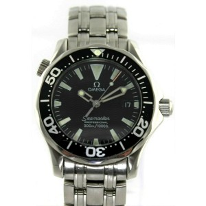 OMEGA SEAMASTER 2062.50 PROFESSIONAL MIDSIZE BLACK MENS DIVERS BOND SWISS WATCH