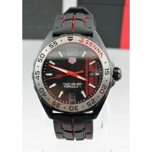TAG HEUER FORMULA 1 WAZ1014.FT8027 AYRTON SENNA EDITION MENS 43MM RACING WATCH