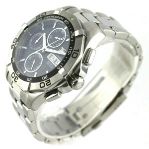 TAG HEUER AQUARACER CAF2010.BA0815 AUTOMATIC CALIBRE 16 BLACK DAY DATE WATCH
