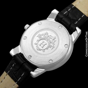 HERMES Carrick Ladies Stainless Steel & 18K Gold Watch - Mint with Warranty