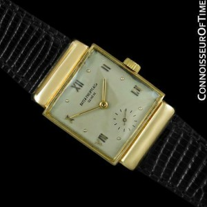 1947 PATEK PHILIPPE Vintage Mens 18K Gold Watch - Very Fine & Rare with Papers