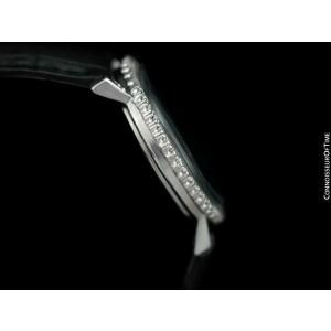 1975 OMEGA Geneve Vintage Mens SS Steel & Diamond Watch - Mint with Warranty