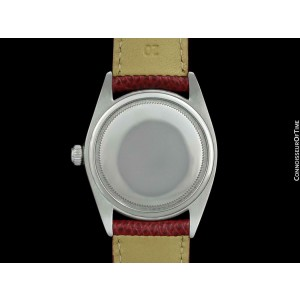 1964 ROLEX OYSTERDATE Mens Stainless Steel & Diamond Red Watch - $6,995, Mint