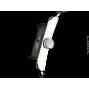 "1934 ROLEX Art Deco Mens ""Prince Elegante"" Ref. SS Steel Watch - Original"