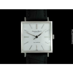 c. 1970 IWC Vintage Mens Square 8541B SS Steel Watch - Mint with Warranty