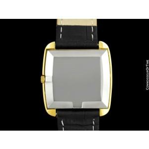 1969 OMEGA De Ville MensRetro 18K Gold Plated TV Watch - Mint with Warranty