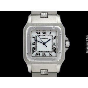 Cartier Mens Santos Automatic Stainless Steel Watch - Mint with Warranty