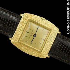 "1960's VACHERON & CONSTANTIN Vintage ""Extra-FLat"" Modernist Mens Watch, 18K GOLD"