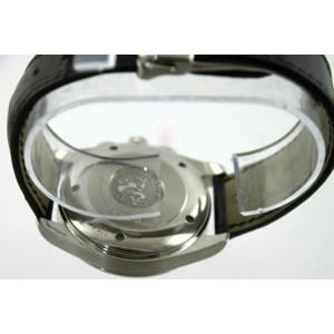 OMEGA SEAMASTER AQUA TERRA 2512.50 AUTOMATIC CHRONOGRAPH BLACK LEATHER WATCH