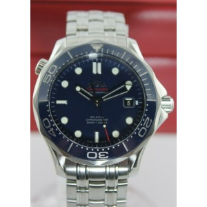 NEW OMEGA SEAMASTER 212.30.41.20.03.001 CO-AXIAL CHRONOMETER BLUE CERAMIC WATCH