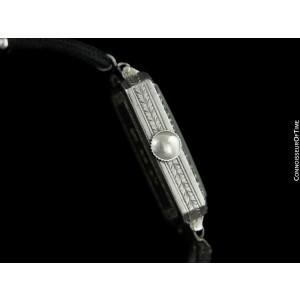 1926 Patek Philippe (Tiffany) Vintage Ladies Platinum & Diamond Watch - Original