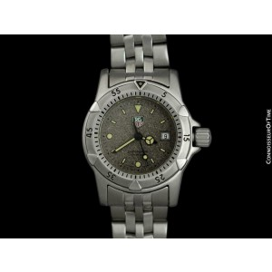 TAG HEUER PROFESSIONAL 1500 Ladies Diver Granite Dial SS Watch - Mint - Warranty