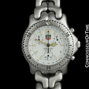 TAG HEUER PROFESSIONAL SEL Mens SS Steel Chronograph Watch - Mint with Warranty