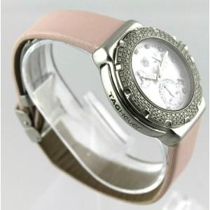 TAG HEUER FORMULA 1 CAC1311.FC6220 DIAMOND CHRONO PEARL PINK SATIN LADIES WATCH
