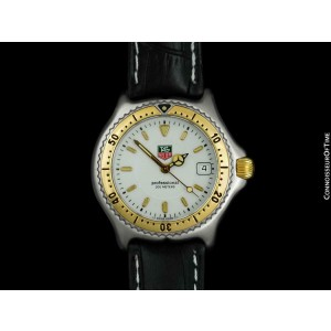 TAG HEUER PROFESSIONAL SEL Mens Midsize SS Steel & 18K Gold - Mint with Warranty