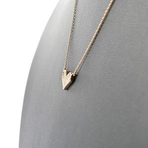 18K pink Gold Diamond Necklace
