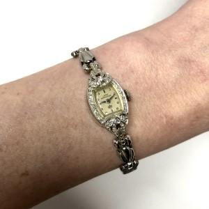 LADY HAMILTON 14K White Gold Ladies Watch