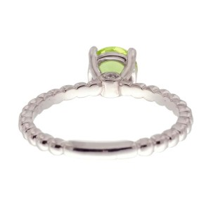 Ritani 18k White Gold Peridot 0.03ctw Diamond Ring Size 6.5