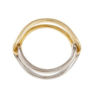Cartier 18K Yellow and White Gold Ring Size 6.5