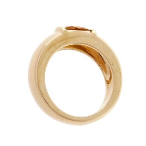 Chaumet 18K Yellow Gold with 1.20ct. Citrine Ring Size 6.25