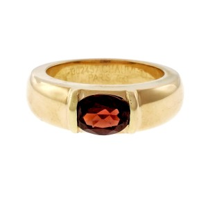 Chaumet 18K Yellow Gold with 1.25ct. Garnet Ring Size 6.5