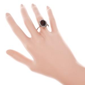 H. Stern Reddish Brown Garnet Ring 18k White Gold Diamond