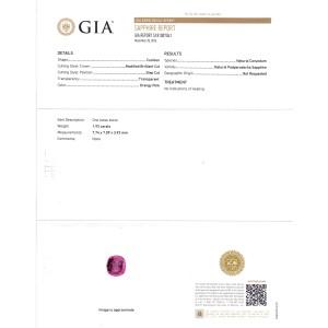 Platinum 1.92ct Natural Padparadscha Sapphire & 0.58ct Diamond Ring Size 6.75