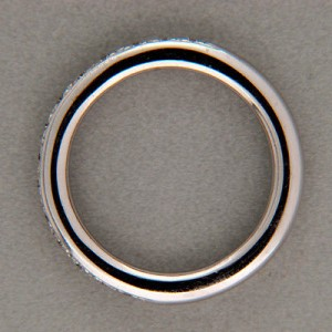 Doris Panos 18K White Gold with 0.40ct. Diamond Vintage Ring Size 7.5