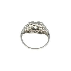 Vintage Platinum and Diamond Art Deco Engagement Ring Size 7.25