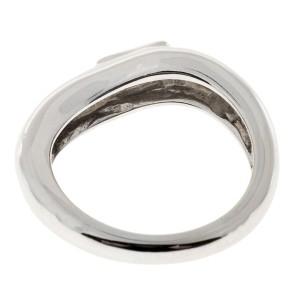 18K White Gold 0.20ct Diamond Swirl Ring Size 4.25