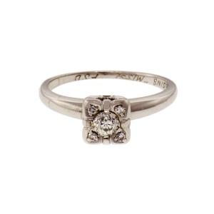 .20 Diamond 14k White Gold Engagement Ring