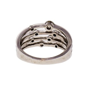 Four Wire Diamond 14k White Gold Cocktail Ring