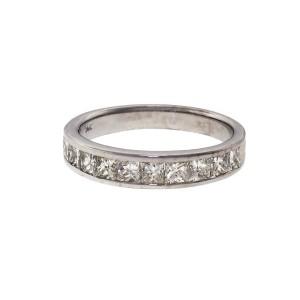 .80ct Princes Cut Diamond Channel Set 14k White Gold Wedding Band Ring