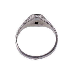 Diamond Baby Ring 14k White Gold