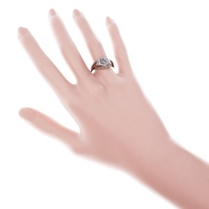 .33ct Old European 18k White Gold Engagement Ring