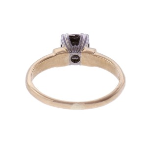 18k Diamond Yellow Gold Solitaire Engagement Ring