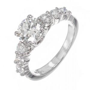 1.01ct Diamond Platinum Engagement Ring