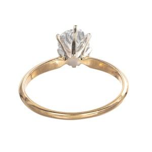 .90ct Round Diamond 14k Yellow Gold Solitaire Engagement Ring