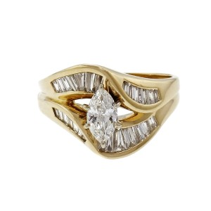 Marquise & Baguette Diamond Cluster Ring