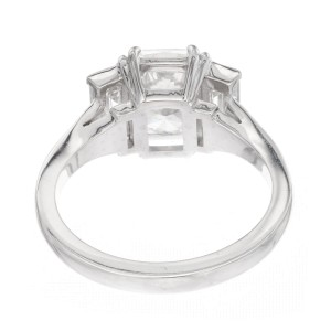 Peter Suchy GIA Certified 2.01 Carat Diamond Platinum Engagement Ring
