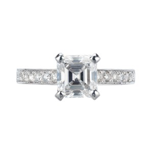 Peter Suchy GIA Certified 1.83 Carat Diamond Platinum Engagement Ring