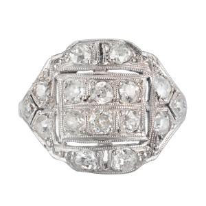.90 Carat Diamond Platinum Victorian Ring