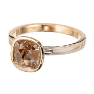 Peter Suchy 1.35 Carat Light Brown Diamond Gold Solitaire Engagement Ring