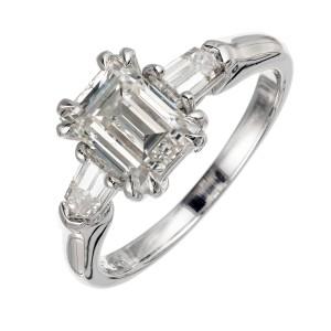 Peter Suchy 1.88 Carat Diamond Platinum Three-Stone Engagement Ring