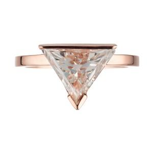 Peter Suchy Modern Alternative Upside Down Trisngle Diamond engagement ring
