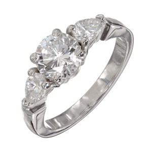 Peter Suchy 1.58 Carat Diamond Three-Stone Engagement Ring