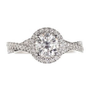Peter Suchy GIA Certified .92 Carat Diamond Platinum Engagement Ring