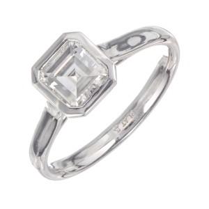 Peter Suchy GIA Certified 1.05 Carat Diamond Platinum Engagement Ring