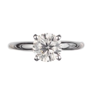 Peter Suchy GIA Certified 1.05 Carat Diamond Platinum Solitaire Engagement Ring